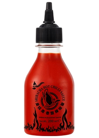 Sos chili Sriracha Blackout, ekstremalnie ostry 200ml - Flying Goose